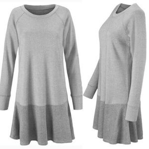 CAbi Flashdance Flounce Hem Sweatshirt Dress